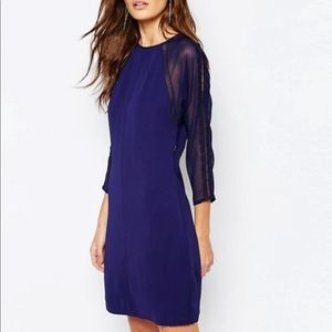 Reiss indigo blue Dalston dress